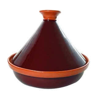 Handmade Le Souk Ceramique Brown Cookable Tagine (Tunisia)