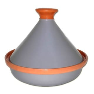 Le Souk Ceramique Grey Cookable Tagine Pot (Tunisia)