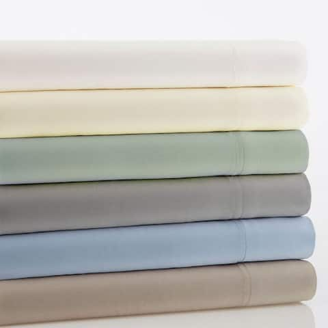 Amraupur Overseas Rayon from Bamboo Rich 4-piece Bed Sheet Set