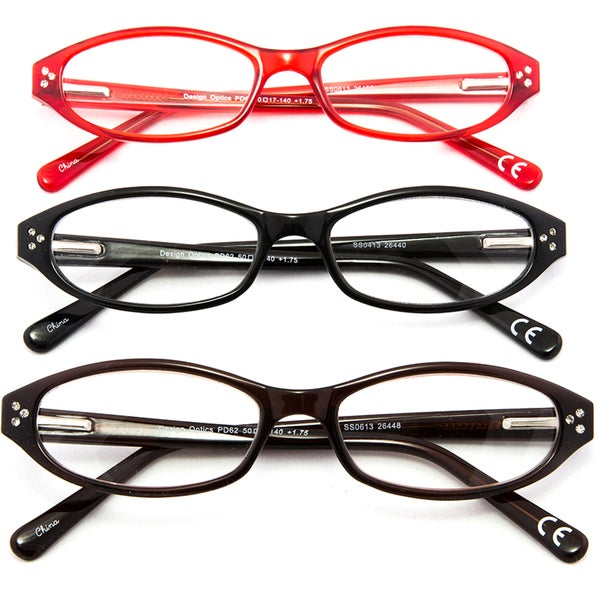 30bddf78b86 Shop Design Optics  Marita  Fashion 3-pack Women s Reading Glasses ...
