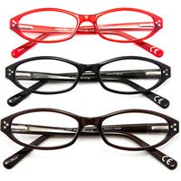 Design Optics 'Marita' Fashion 3-pack Women's Reading Glasses - Tortoise/Black