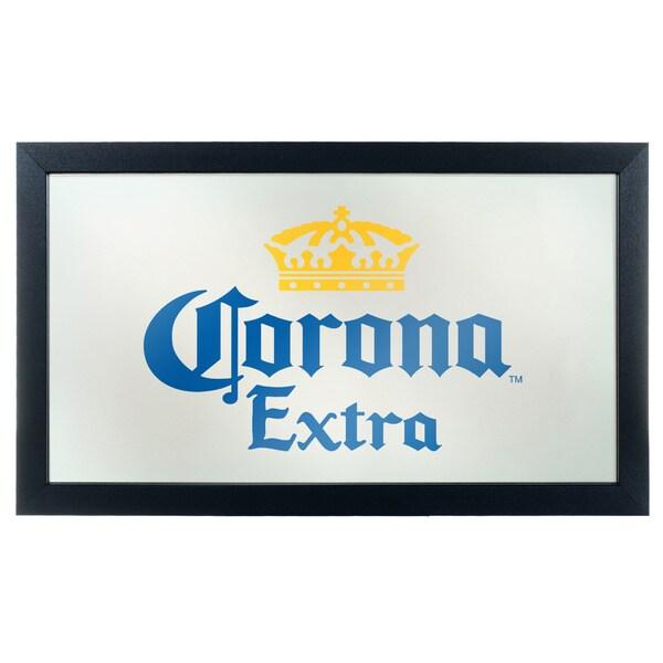 Corona Framed Mirror Wall Plaque -Logo