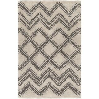 Hand-Tufted Pippa Geometric Pattern Wool Rug (2' x 3')