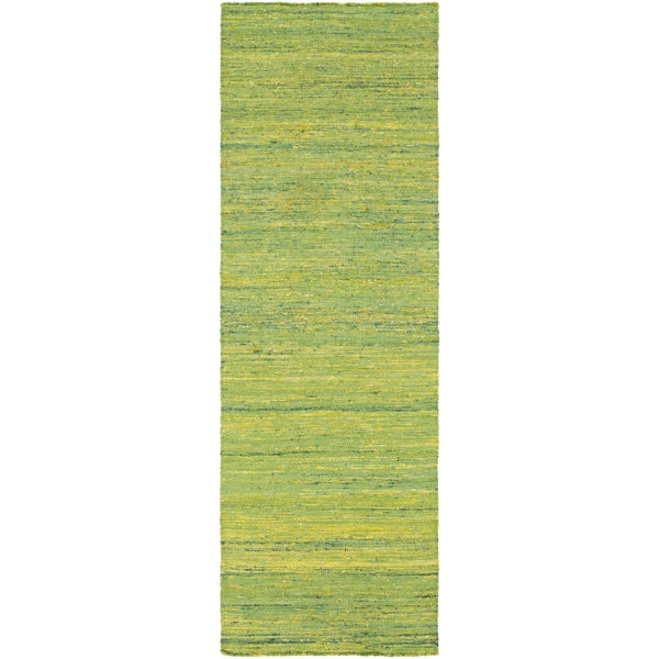 Hand-Woven Seger Solid Pattern Cotton Area Rug (2'6 x 8')