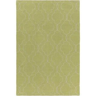 Hand-Woven Jaiden Geometric Pattern Wool Rug (8' x 10')