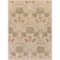 Hand-Tufted Mindy Floral New Zealand Wool Area Rug (8' x 11') - 8' x 11'