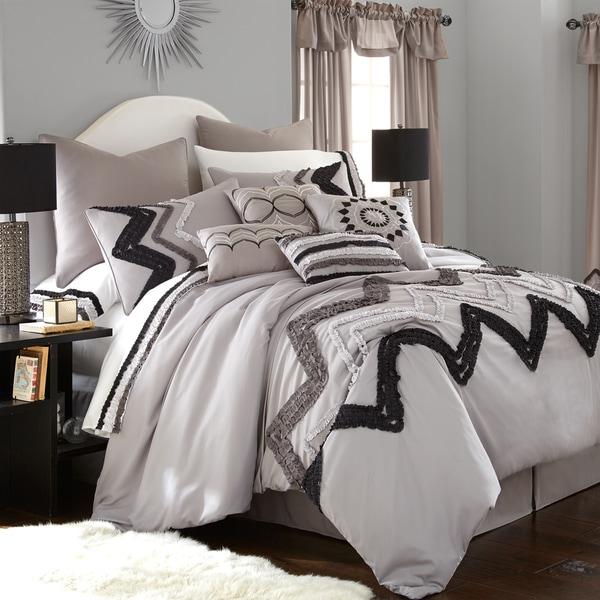 Amraupur Overseas Kira Grey 24-piece Comforter Set
