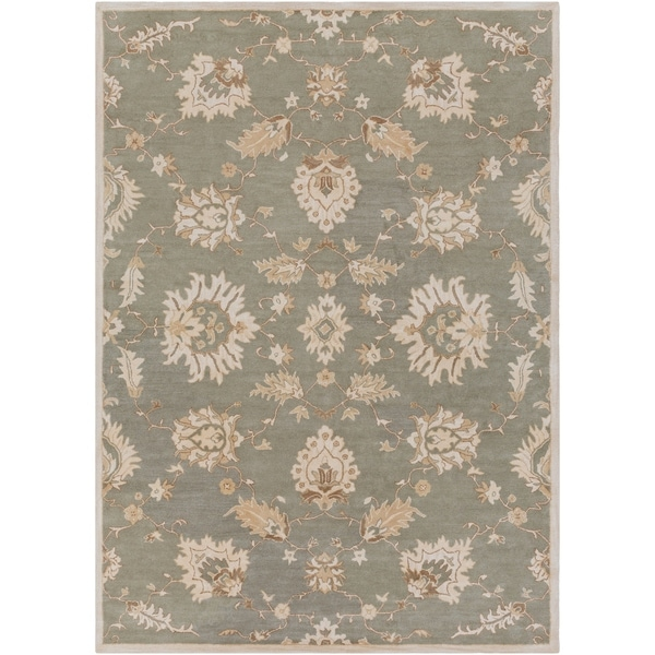Hand-Tufted Watton Floral Wool Area Rug - 8' x 11'