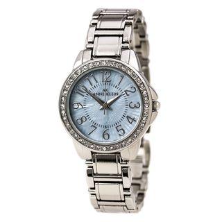 Anne Klein Women's 10-9661TMSV Crystal Stainless Steel Watch