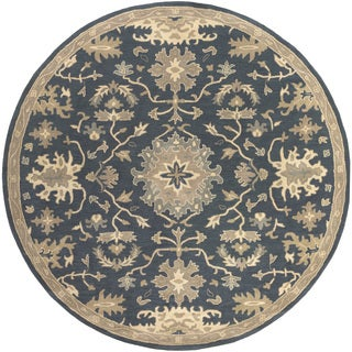 Hand-Tufted Tipton Floral Wool Rug (9'9 Round)
