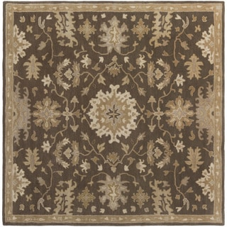 Hand-Tufted Tipton Floral Wool Rug (9'9 Square)