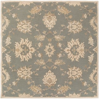 Hand-Tufted Watton Floral Wool Rug (9'9 Square)