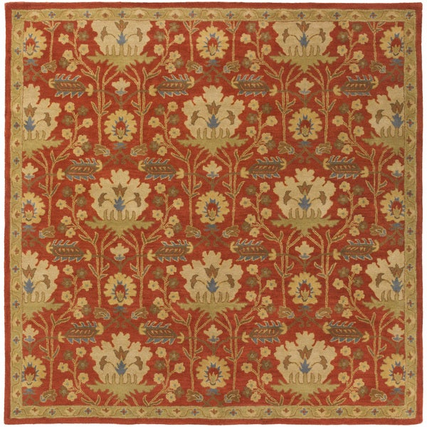 Gracewood Hollow Brooks Hand-tufted Floral Wool Area Rug - 9'9 Square