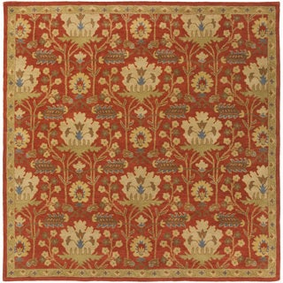 Hand-Tufted Widnes Floral Wool Rug (9'9 Square)