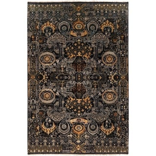 Hand-Knotted Wilton Floral Wool Rug (3'6 x 5'6)