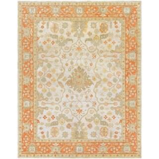Hand-Tufted Mitcham Border Indoor Wool Area Rug - 8' x 10'