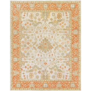 Hand-Tufted Mitcham Border Indoor Wool Rug (8' x 10')