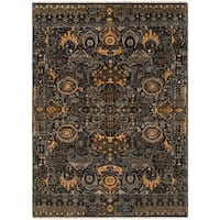 Hand-Knotted Wilton Floral Wool Area Rug - 8' x 11'