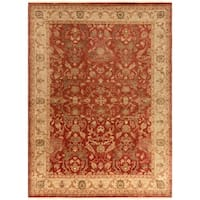 Hand-Knotted Witham Floral Wool Area Rug (8' x 11')