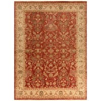 Hand-Knotted Witham Floral Wool Area Rug - 8' x 11'