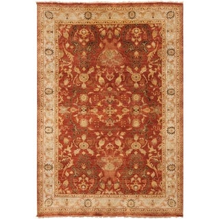 Hand-Knotted Witham Floral Wool Rug (9' x 13')