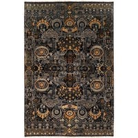 Hand-Knotted Wilton Floral Wool Area Rug - 2' x 3'