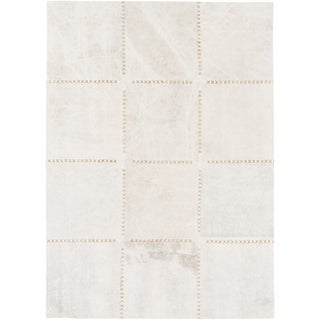 Hand-Crafted Thirsk Crosshatched Indoor Cotton Rug (8' x 10')