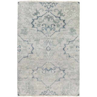 Hand-Knotted Keswick Floral New Zealand Wool Rug (9' x 13')