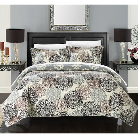 The Curated Nomad Moondance 3-piece Printed Reversible Quilt Set