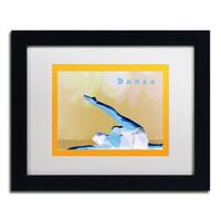 Patty Tuggle 'Dance' White Matte, Black Framed Wall Art
