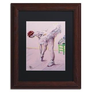 Lowell S.V. Devin 'Pink Dancer' Black Matte, Wood Framed Wall Art