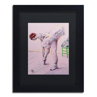 Lowell S.V. Devin 'Pink Dancer' Black Matte, Black Framed Wall Art