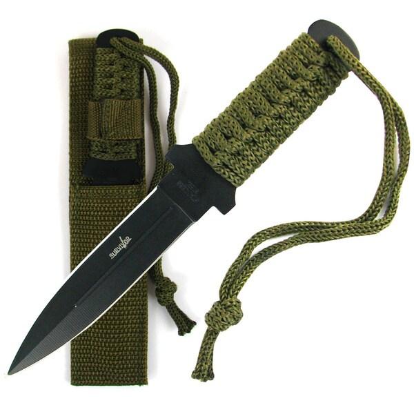 Whetstone Stainless Steel Survival Knife w/ Case