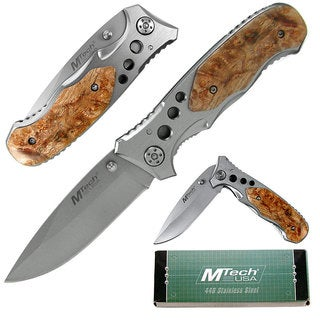 Whetstone Folding Knife w/ Wood handle