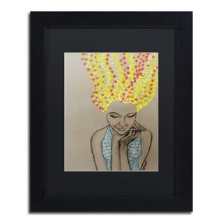 Sylvie Demers 'Miss Sunshine' Black Matte, Black Framed Wall Art