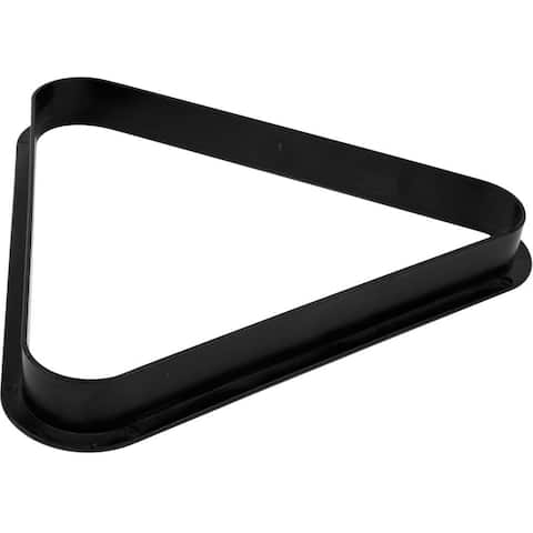 Billiards 8 Ball Triangle Rack  Pool Table Equipment Snooker Accessories for Regulation Size Billiard Balls by Trademark Games