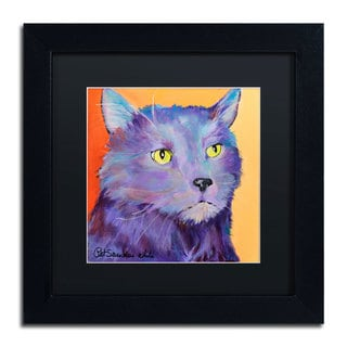 Pat Saunders-White 'Frenchy' Black Matte, Black Framed Wall Art