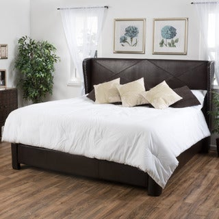 Christopher Knight Home Waterville King-sized Bonded Leather Bed
