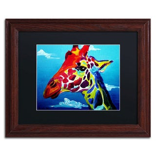 DawgArt 'Giraffe' Black Matte, Wood Framed Wall Art