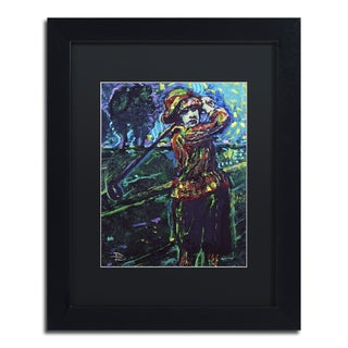 Lowell S.V. Devin 'Glenna Collet' Black Matte, Black Framed Wall Art