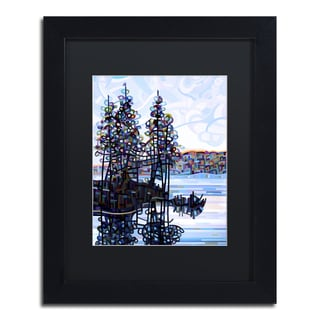 Mandy Budan 'Haliburton Morning' Black Matte, Black Framed Wall Art