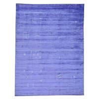 Purple Modern Gabbeh Rayon from Bamboo Silk Handmade Oriental Rug
