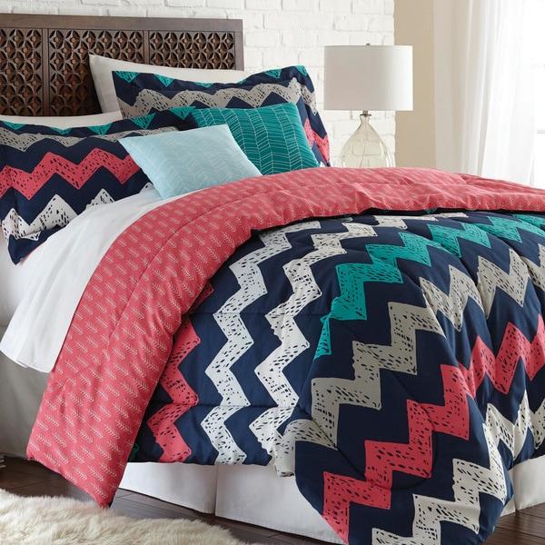 Amraupur Overseas Zig Zag Improv Reversible 5 Piece Comforter Set Free Shipping Today 10463341