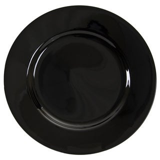 10 Strawberry Street Black Rim 7.5-inch Salad Plate (Set of 6)