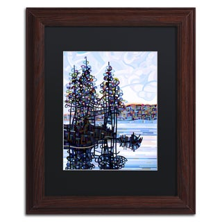 Mandy Budan 'Haliburton Morning' Black Matte, Wood Framed Wall Art