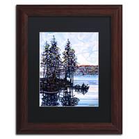 Mandy Budan 'Haliburton Morning' Black Matte, Wood Framed Wall Art