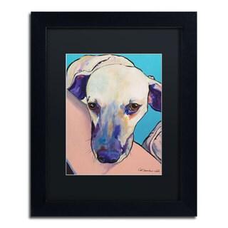 Pat Saunders-White 'Headrest' Black Matte, Black Framed Wall Art
