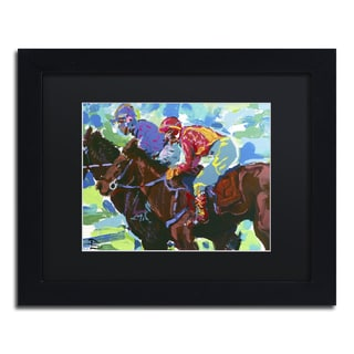 Lowell S.V. Devin 'Inside Track' Black Matte, Black Framed Wall Art