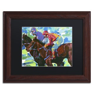 Lowell S.V. Devin 'Inside Track' Black Matte, Wood Framed Wall Art