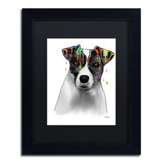 Marlene Watson 'Jack Russel Terrier' Black Matte, Black Framed Wall Art